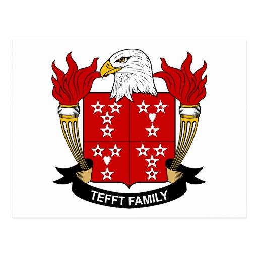 Escudo de la familia de Tefft Postales