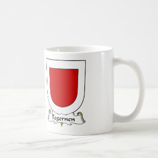 Escudo de la familia de Tegernen Taza De Café