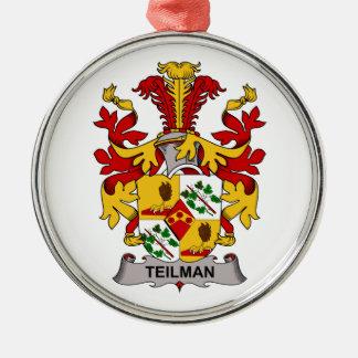 Escudo de la familia de Teilman Adornos De Navidad