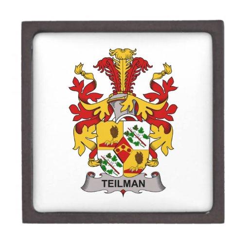 Escudo de la familia de Teilman Cajas De Joyas De Calidad