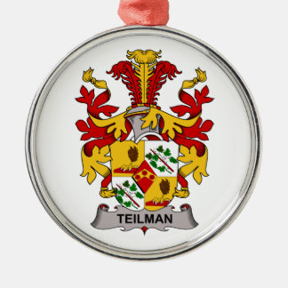 Escudo de la familia de Teilman Adorno Redondo Plateado
