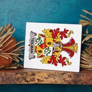 Escudo de la familia de Teilman Placa De Madera