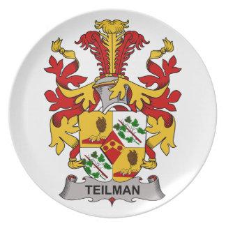 Escudo de la familia de Teilman Plato