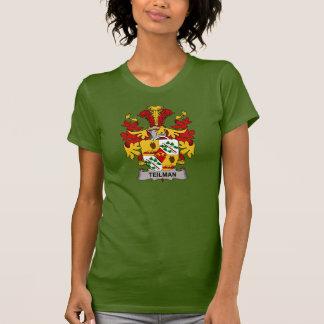Escudo de la familia de Teilman Camisetas