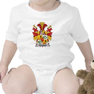 Escudo de la familia de Teilman Traje De Bebé