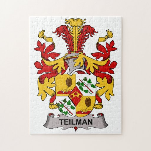 Escudo de la familia de Teilman Rompecabeza