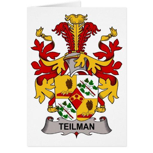 Escudo de la familia de Teilman Tarjeta De Felicitación