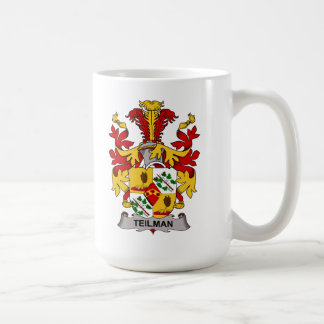 Escudo de la familia de Teilman Taza De Café