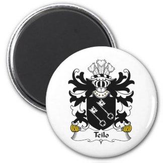 Escudo de la familia de Teilo Imán Redondo 5 Cm