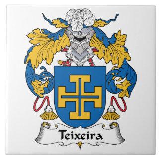 Escudo de la familia de Teixeira Azulejo Cuadrado Grande