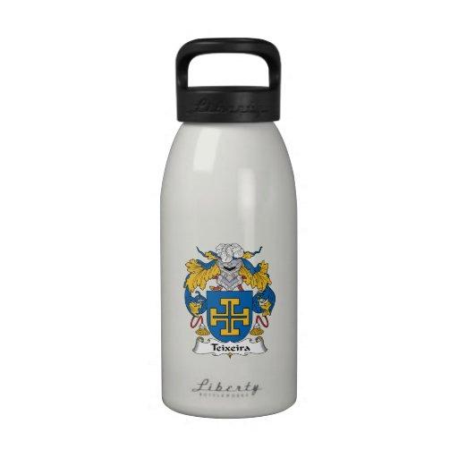 Escudo de la familia de Teixeira Botella De Beber