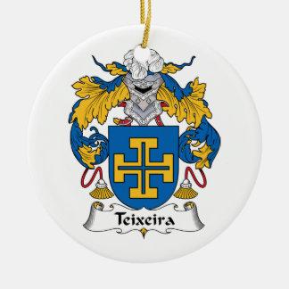 Escudo de la familia de Teixeira Adorno Redondo De Cerámica