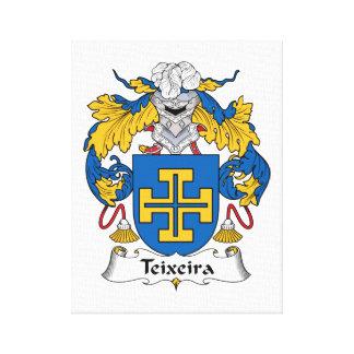 Escudo de la familia de Teixeira Impresión En Lona Estirada