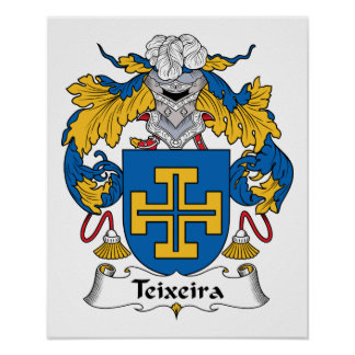 Escudo de la familia de Teixeira Póster