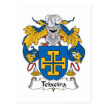 Escudo de la familia de Teixeira Tarjetas Postales