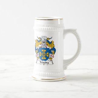 Escudo de la familia de Teixeira Tazas De Café