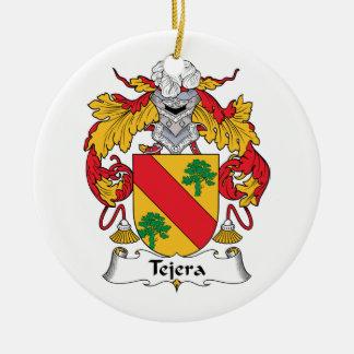 Escudo de la familia de Tejera Adorno Navideño Redondo De Cerámica