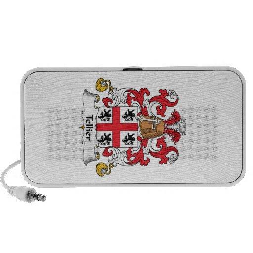 Escudo de la familia de Tellier iPod Altavoz