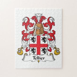 Escudo de la familia de Tellier Puzzle Con Fotos