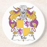 Escudo de la familia de Telo Posavasos Personalizados