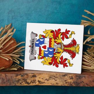 Escudo de la familia de Temming Placa De Madera