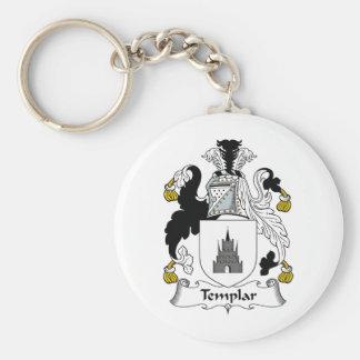 Escudo de la familia de Templar Llavero Redondo Tipo Pin