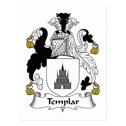Escudo de la familia de Templar Tarjeta Postal