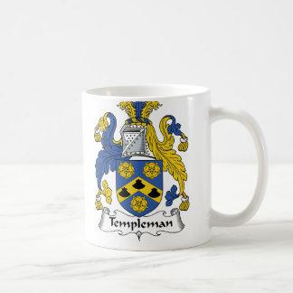 Escudo de la familia de Templeman Tazas De Café
