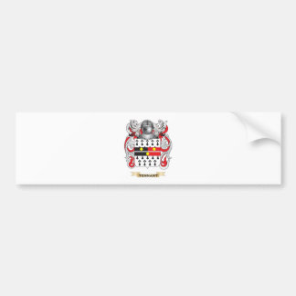 Escudo de la familia de Tennant (escudo de armas) Pegatina De Parachoque
