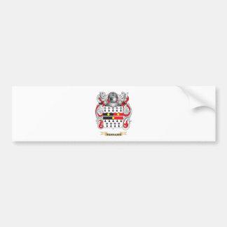 Escudo de la familia de Tennant (escudo de armas) Pegatina Para Auto
