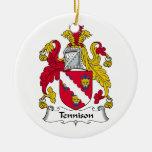 Escudo de la familia de Tennison Adorno De Navidad