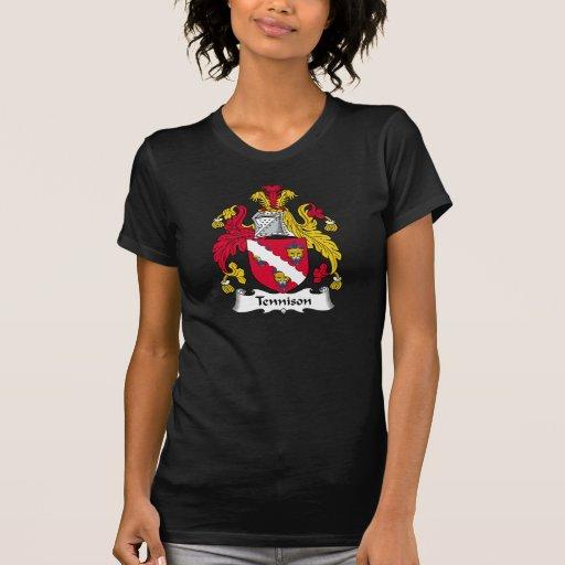 Escudo de la familia de Tennison Camiseta