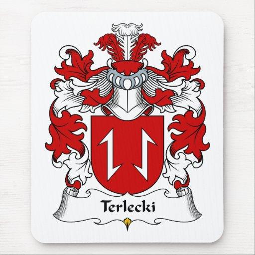 Escudo de la familia de Terlecki Alfombrillas De Raton