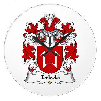 Escudo de la familia de Terlecki Reloj Redondo Grande