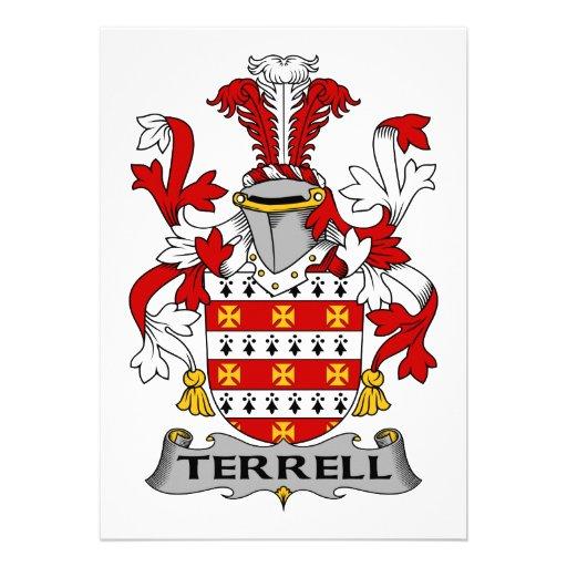 Escudo de la familia de Terrell Invitacion Personal