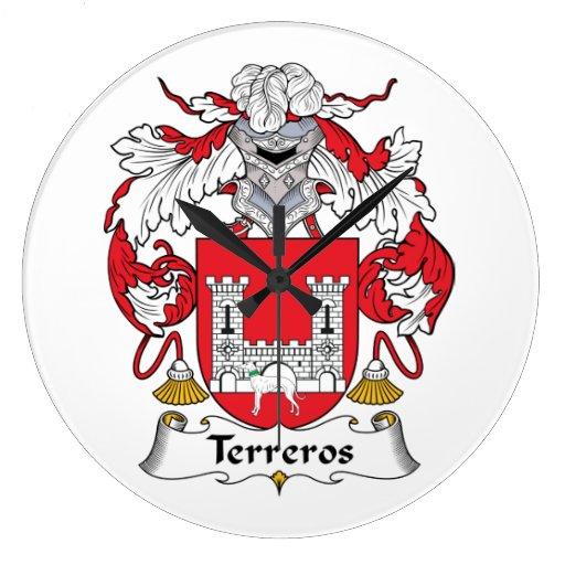 Escudo de la familia de Terreros Reloj Redondo Grande