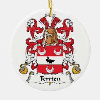 Escudo de la familia de Terrien Ornamentos Para Reyes Magos
