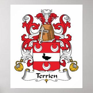Escudo de la familia de Terrien Impresiones
