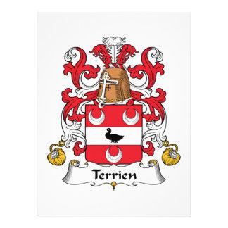 Escudo de la familia de Terrien Comunicado Personalizado