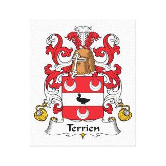 Escudo de la familia de Terrien Lienzo Envuelto Para Galerias