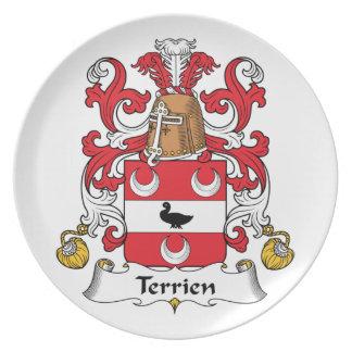 Escudo de la familia de Terrien Plato