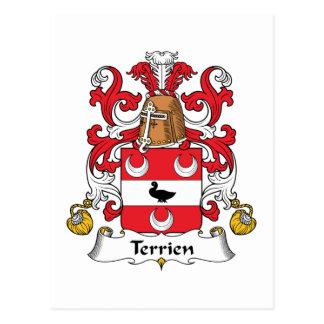 Escudo de la familia de Terrien Postales