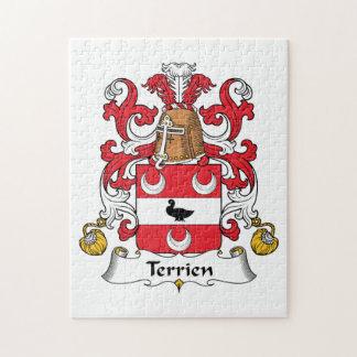 Escudo de la familia de Terrien Puzzles Con Fotos
