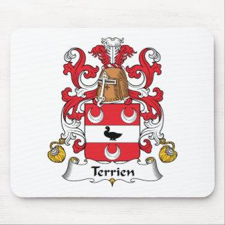 Escudo de la familia de Terrien Tapete De Ratón