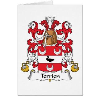 Escudo de la familia de Terrien Tarjetas
