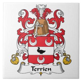Escudo de la familia de Terrien Tejas Cerámicas