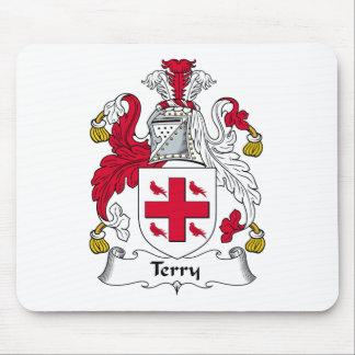 Escudo de la familia de Terry Alfombrillas De Raton