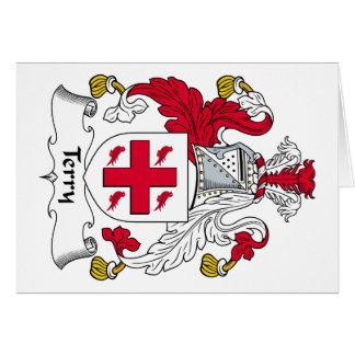 Escudo de la familia de Terry Tarjeta De Felicitación