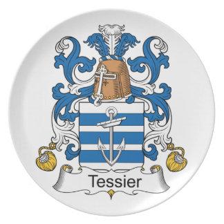 Escudo de la familia de Tessier Platos De Comidas