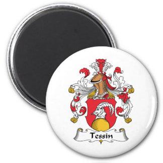 Escudo de la familia de Tessin Imán Redondo 5 Cm